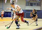 ROTTERDAM - Lieke van Wijk van MOP aan de bal tijdens de  finale zaalhockey om het Nederlands kampioenschap tussen de  vrouwen  van Amsterdam en MOP.  ANP KOEN SUYK