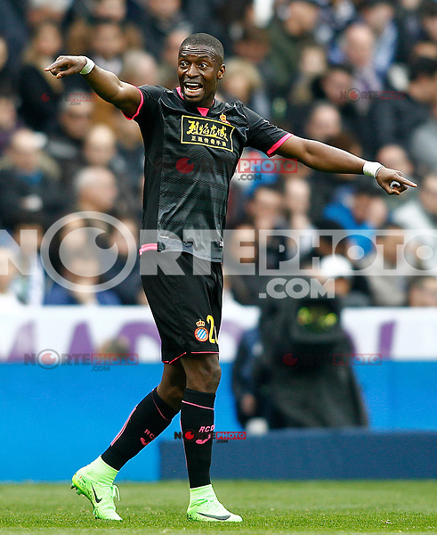 RCD Espanyol's Pape Diop during La Liga match. February 18,2017. (ALTERPHOTOS/Acero) /Nortephoto.com
