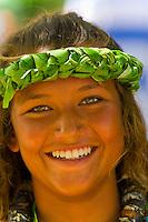 Hula Dancers, Cultural Festival, Pu'uhonua o Honaunau National Historical Park (City of Refuge), Big Island of Hawaii, Hawaii, USA