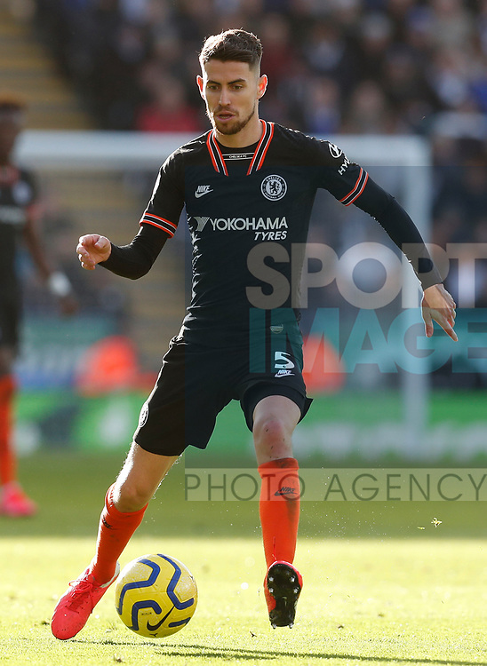 Jorginho of Chelsea during the Premier League match against Leicester City at the King Power Stadium, Leicester. Picture date: 1st February 2020. Picture credit should read: Darren Staples/Sportimage