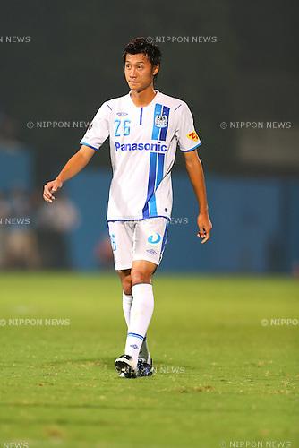 Takaharu Nishino (Gamba),<br /> AUGUST 25, 2013 - Football / Soccer :<br /> 2013 J.League Division 2 match between Yokohama FC 2-2 Gamba Osaka at Nippatsu Mitsuzawa Stadium in Kanagawa, Japan. (Photo by Kenzaburo Matsuoka/AFLO)