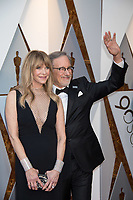 Kate Capshaw and Steven Spielberg, Oscar&reg; nominee for best motion picture of the year, for work on &ldquo;The Post&rdquo;, arrive on the red carpet of The 90th Oscars&reg; at the Dolby&reg; Theatre in Hollywood, CA on Sunday, March 4, 2018.<br /> *Editorial Use Only*<br /> CAP/PLF/AMPAS<br /> Supplied by Capital Pictures