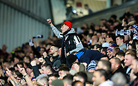 Newcastle United fans celebrate going 2-0 up<br /> <br /> Photographer Alex Dodd/CameraSport<br /> <br /> Emirates FA Cup Third Round Replay - Blackburn Rovers v Newcastle United - Tuesday 15th January 2019 - Ewood Park - Blackburn<br />  <br /> World Copyright © 2019 CameraSport. All rights reserved. 43 Linden Ave. Countesthorpe. Leicester. England. LE8 5PG - Tel: +44 (0) 116 277 4147 - admin@camerasport.com - www.camerasport.com