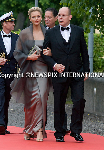 """PRINCE ALBERT OF MONACO AND CHARLENE WITTSTOCK.PRINCESS VICTORIA_PRE-WEDDING DINNER.hosted by the Swedish Government, Eric Ericsonhallen, Stockholm_18/062010.Mandatory Credit Photo: ©DIAS-NEWSPIX INTERNATIONAL..**ALL FEES PAYABLE TO: """"NEWSPIX INTERNATIONAL""""**..IMMEDIATE CONFIRMATION OF USAGE REQUIRED:.Newspix International, 31 Chinnery Hill, Bishop's Stortford, ENGLAND CM23 3PS.Tel:+441279 324672  ; Fax: +441279656877.Mobile:  07775681153.e-mail: info@newspixinternational.co.uk"""
