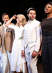 "Will Chase, Kelli O'Hara, Corbin Bleu and Adrienne Walker during the Broadway Opening Night Curtain Call for ""Kiss Me, Kate""  at Studio 54 on March 14, 2019 in New York City."