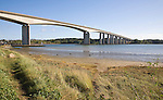Orwell Bridge carrying the A14 trunk road over  the River Orwell, Wherstead, near Ipswich, Suffolk, England