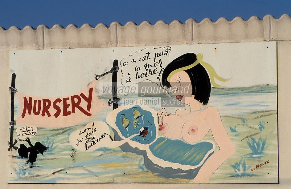 Europe/France/Bretagne/56/Morbihan/Presqu'île de Rhuys/Env de Sarzeau/Le Tour du Parc: Détail des cabanes ostréïcoles