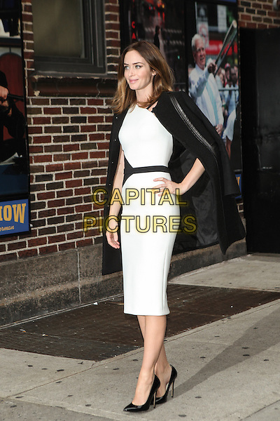 NEW YORK, NY - NOVEMBER 25: Emily Blunt visits the Late Show With David Letterman on November 25, 2014 in New York City.  <br /> CAP/MPI/MPI99<br /> &copy;MPI99/MPI/Capital Pictures