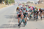 The peloton in action during Stage 6 of the La Vuelta 2018, running 150.7km from Hu&eacute;rcal-Overa to San Javier, Mar Menor, Sierra de la Alfaguara, Andalucia, Spain. 30th August 2018.<br /> Picture: Unipublic/Photogomezsport | Cyclefile<br /> <br /> <br /> All photos usage must carry mandatory copyright credit (&copy; Cyclefile | Unipublic/Photogomezsport)