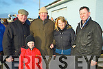 Pictured at Ballyheigue races on New Year's Day were l-r: Finbarr Breen, Daniel Breen, Jack Sullivan, Sarah Breen and Denis Keane (Beale and Listowel).