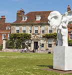 Eighteenth century Georgian architecture of Mompesson House, Cathedral Close, Salisbury, Wiltshire, England, UK