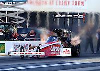 May 16, 2014; Commerce, GA, USA; NHRA top fuel driver Steve Torrence during qualifying for the Southern Nationals at Atlanta Dragway. Mandatory Credit: Mark J. Rebilas-USA TODAY Sports