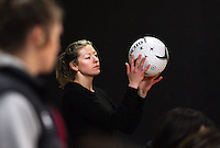 Silver Fern's Anna Thompson at training for the New World Netball Series match, Wallacetown Stadium, Invercargill, New Zealand, Saturday, September 14, 2013. ©MBPHOTO/Dianne Manson Michael Bradley Photography