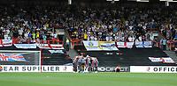 Leeds United have a team talk prior to kick off <br /> <br /> Photographer Ian Cook/CameraSport<br /> <br /> The EFL Sky Bet Championship - Bristol City v Leeds United - Sunday 4th August 2019 - Ashton Gate Stadium - Bristol<br /> <br /> World Copyright © 2019 CameraSport. All rights reserved. 43 Linden Ave. Countesthorpe. Leicester. England. LE8 5PG - Tel: +44 (0) 116 277 4147 - admin@camerasport.com - www.camerasport.com