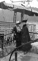 Two women aboard a steamship and surrounded by rigging, circa 1930's.   (photo: www.bcpix.com)