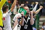 Leipzigs Trainer Andre Haber mit dem Jubel im Spiel der Handballliga, Bergischer HC - SC DHFK Leipzig.<br /> <br /> Foto &copy; PIX-Sportfotos *** Foto ist honorarpflichtig! *** Auf Anfrage in hoeherer Qualitaet/Aufloesung. Belegexemplar erbeten. Veroeffentlichung ausschliesslich fuer journalistisch-publizistische Zwecke. For editorial use only.