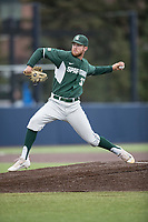Michigan State Spartans pitcher Joe Mockbee (31) delivers a pitch to the plate against the Michigan Wolverines on May 19, 2017 at Ray Fisher Stadium in Ann Arbor, Michigan. Michigan defeated Michigan State 11-6. (Andrew Woolley/Four Seam Images)