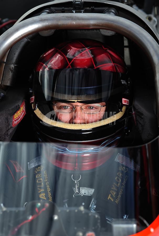 Oct. 31, 2008; Las Vegas, NV, USA: NHRA top fuel dragster driver Joe Hartley during qualifying for the Las Vegas Nationals at The Strip in Las Vegas. Mandatory Credit: Mark J. Rebilas-