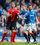 05.05.2018 Rangers v Kilmarnock: Take your partners - dancing steps from Kirk Broadfoot and David Bates