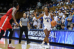 DURHAM, NC - NOVEMBER 30: Duke's Lexie Brown (4). The Duke University Blue Devils hosted the Ohio State Buckeyes on November 30, 2017 at Cameron Indoor Stadium in Durham, NC in a Division I women's college basketball game, and as part of the annual ACC-Big Ten Challenge. Duke won the game 69-60.