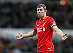 James Milner of Liverpool appeals to the referee - English Premier League - Newcastle Utd vs Liverpool - St James' Park Stadium - Newcastle Upon Tyne - England - 6th December 2015 - Picture Simon Bellis/Sportimage
