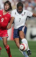 Han Duan, left, Shannon Boxx, right, USA vs China, 2004.