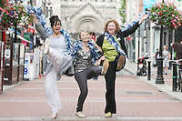 NO REPRO FEE 21/7/2010. Little Gem.  Hilda Fay, (BLACK HAIR) Anita Reeves (RED HAIR) and Genevieve Hulme-Beaman (BLONDE), the cast of Little Gem are pictured in the Westbury Hotel Dublin at the launch of Guna Nua's hit Little Gem set to sparkle in the Olympia Theatre for ten performances only. Hilda Fay makes her return as Lorraine, Anita Reeves continues in the role of Kay, and Genevieve Hulme-Beaman takes on the role of Amber. After sell-out seasons in New York, London and Paris and a sold-out 7-week run at Ireland's National Theatre, Gúna Nua is bringing its bittersweet comedy Little Gem back to Dublin for 10 shows only at The Olympia Theatre from August 26 to September 4, 2010. Love, sex, birth, death, dildos and salsa classes: Elaine Murphy's award winning Little Gem sees three generations of Dublin women on a wild and constantly surprising journey. Picture James Horan/Collins Photos