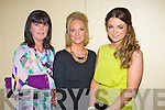 Enjoying the fashion show in aid of the Motor Neurone Disease Association and the Palliative Care Unit at Kerry General Hospital, held in the Brandon Hotel on Saturday evening were l-r: Michelle O'Sullivan Melissa Ryan and Rachel Browne.