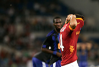 AS Roma forward Bojan Krkic, of Spain, reacts at the end of an Europa League preliminary second leg football match between AS Roma and SK Slovan Bratislava, at Rome's Olympic stadium, Roma, 25 august 2011..UPDATE IMAGES PRESS/Riccardo De Luca