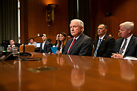 Attorney General Jeff Sessions sits prior to testifying during a Senate Appropriations sub committee hearing to examine the Department of Justice budget at the United States Capitol in Washington, DC on April 25, 2018. Credit: Alex Edelman / CNP /MediaPunch