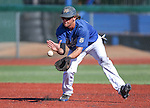 Wildcats third baseman Austin Andrews makes a play against Colorado Northwestern Community College at Western Nevada College, in Carson City, Nev., on Friday, March 13, 2015. <br /> Photo by Cathleen Allison/Nevada Photo Source