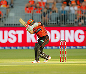 3rd February 2019, Optus Stadium, Perth, Australia; Australian Big Bash Cricket League, Perth Scorchers versus Melbourne Stars; Michael Klinger of the Perth Scorchers miss times a drive during his innings