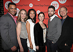 Christopher Jackson, Lisa Emery, Maureen Sebastian, Olivia Thirlby, Topher Grace, Mark Blum .attending the Off-Broadway Opening Night Performance Party for the Second Stage Theatre's 'Lonely, I'm Not' at HB Burger in New York City on 5/7/2012.