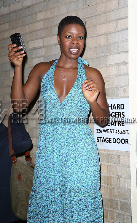 "Roslyn Ruff greeting fans at the stage door the after the First Performance of ""Romeo And Juliet"" On Broadway at the Richard Rodgers Theatre in New York City on 8/24/2013"