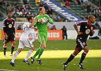 CARSON, CA - March 18,2012: DC United goalie Joe Willis (31) during the LA Galaxy vs DC United match at the Home Depot Center in Carson, California. Final score LA Galaxy 3, DC United 1.