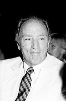 Montreal (QC) Canada- - August 2, 1984 File Photo - Premiere of LOUISIANE, , Pierre Trudeau  Prime Miinister, Canad