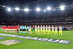 14.09.2017, Emirates Stadium, London, GER, Europa League, Arsenal London vs 1. FC Koeln, im Bild<br /> <br /> Arsenal London ( links ) und 1. FC Koeln ( rechts ) vor Spielbeginn iim Emirates Stadium<br /> <br /> <br /> Foto &copy; nordphoto / Treese