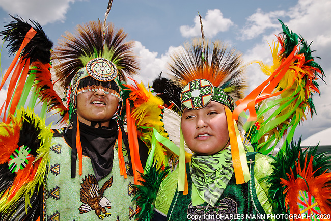The annual Taos Pow-Wow,  each year in early July,  is attended not only by dancers from different tribes of New Mexico but by  participants from many other states as well. Kaidon Draper andd Dez Draper came from Kirtland, New Mxico from the Navajo Tribe.