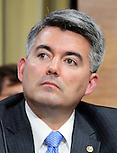 United States Senator Cory Gardner (Republican of Colorado) a member of the US Senate Committee on Energy and Commerce, during the hearing considering the confirmation of US Representative Ryan Zinke (Republican of Montana) to be US Secretary of the Interior on Capitol Hill in Washington, DC on Tuesday, January 17, 2017.<br /> Credit: Ron Sachs / CNP