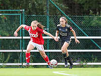 Standard's Gwyneth Vanaenrode (3) (L) and OHL's Jill Janssens (7) (R) battle for the ball during a female soccer game between Standard Femina de Liege and Oud Heverlee Leuven on the second matchday of the 2020 - 2021 season of Belgian Scooore Women s SuperLeague , saturday 5 th of September 2020  in Angleur , Belgium . PHOTO SPORTPIX.BE | SPP | SEVIL OKTEM