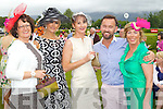 Bernie Falvey, Lisa Fitzpatrick, Cara Dillon, Brendan Courtney and Fiona Griffin, Tralee at Killarney races ladies day on Thursday.