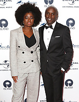 Clara Amfo and Trevor Nelson at the Amy Winehouse Foundation Gala held at the Dorchester Hotel, Park Lane, London on October 5th 2017<br /> CAP/ROS<br /> &copy;ROS/Capital Pictures