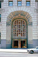 Vancouver: Marine Building Entrance.