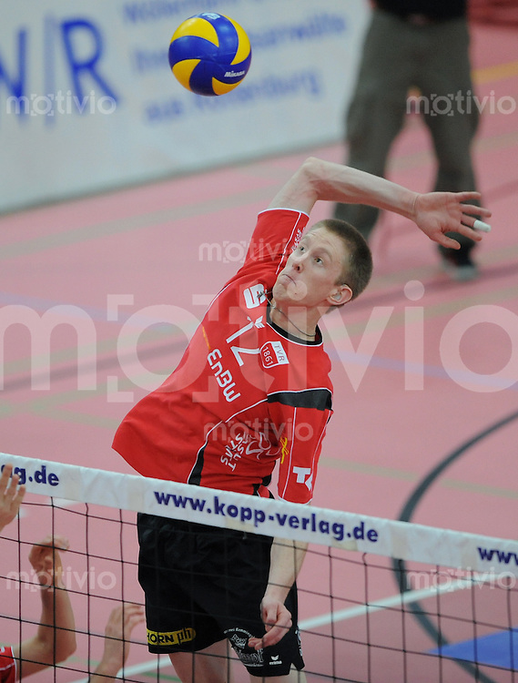 Volleyball  1. Bundesliga  2008/200909.03.2009 ENBW TV Rottenburg  - TSV Giesen/Hildesheim David Smith (TV R)