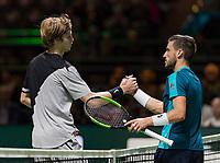 ABNAMRO World Tennis Tournament, 15 Februari, 2018, Rotterdam, The Netherlands, Ahoy, Tennis, Andrey Rublev (RUS), Damir Dzumhur (BIH) <br /> <br /> Photo: www.tennisimages.com
