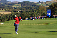 Angel Yin Team USA on the 8th fairway during Day 1 Fourball at the Solheim Cup 2019, Gleneagles Golf CLub, Auchterarder, Perthshire, Scotland. 13/09/2019.<br /> Picture Thos Caffrey / Golffile.ie<br /> <br /> All photo usage must carry mandatory copyright credit (© Golffile | Thos Caffrey)
