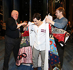 David Westphal, Jess LeProtto and Brendon Stimson during the Actors' Equity Broadway Opening Night Gypsy Robe Ceremony honoring Jess LeProtto for 'Carousel' at the Imperial Theatre on April 12, 2018 in New York City.