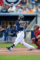 Tampa Bay Rays third baseman Ryan Roberts #19 during a Grapefruit League Spring Training game against the Boston Red Sox at Charlotte County Sports Park on February 25, 2013 in Port Charlotte, Florida.  Tampa Bay defeated Boston 6-3.  (Mike Janes/Four Seam Images)