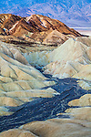 Photograph of dry riverbed at Death Valley's Zabriskie Point