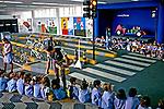Escola de trânsito do Detran. São Paulo. 1991. Foto de Juca Martins.